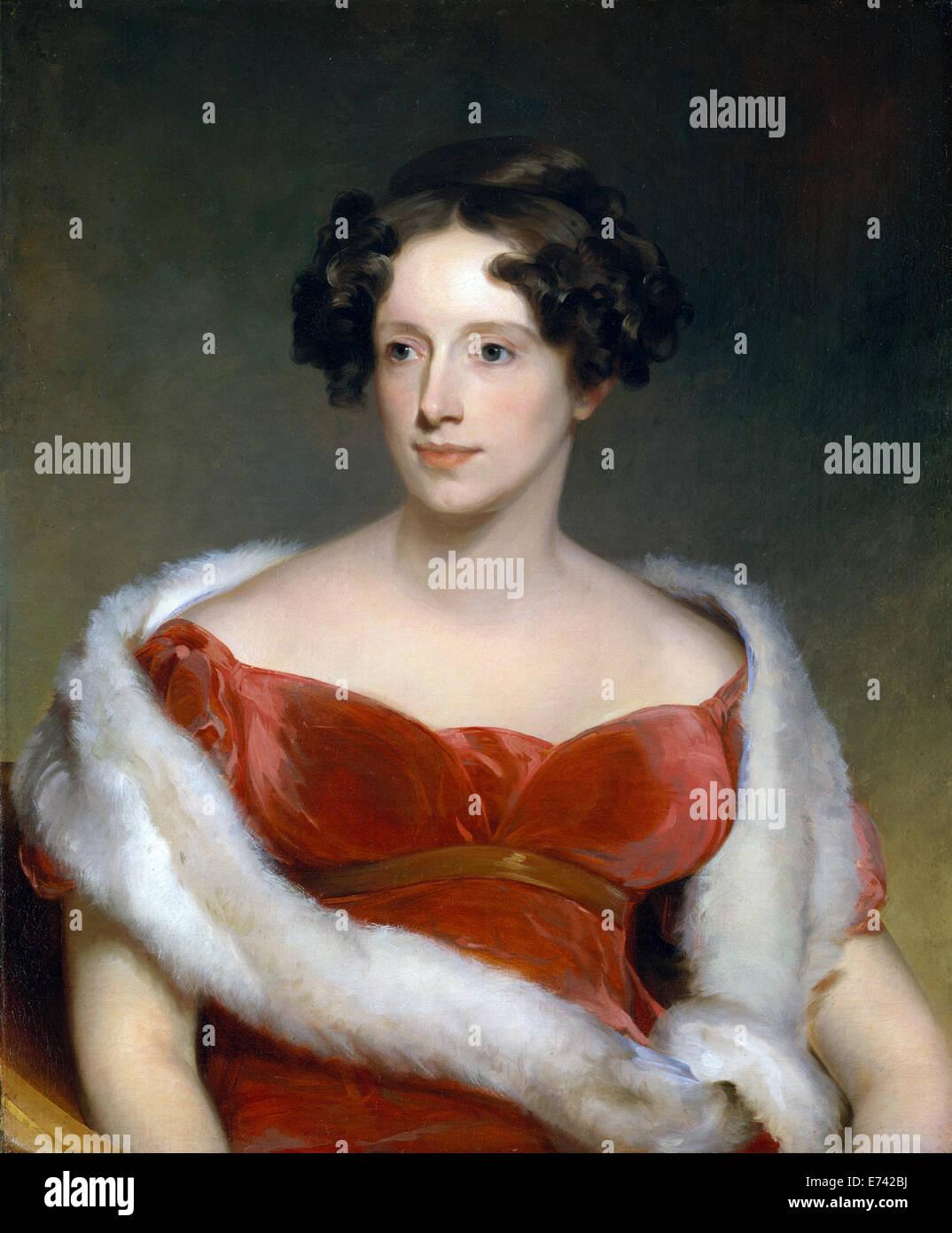 Mrs. John Biddle, Eliza Falconer Bradish - by Thomas Sully, 1818 - Stock Image