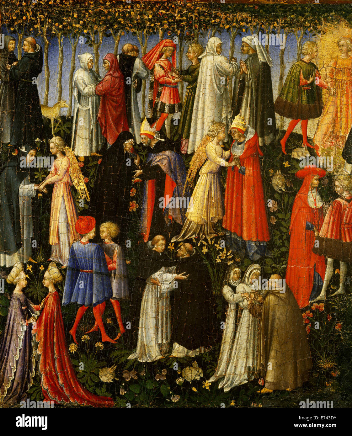 Paradise - by Giovanni di Paolo, 1445 - Stock Image