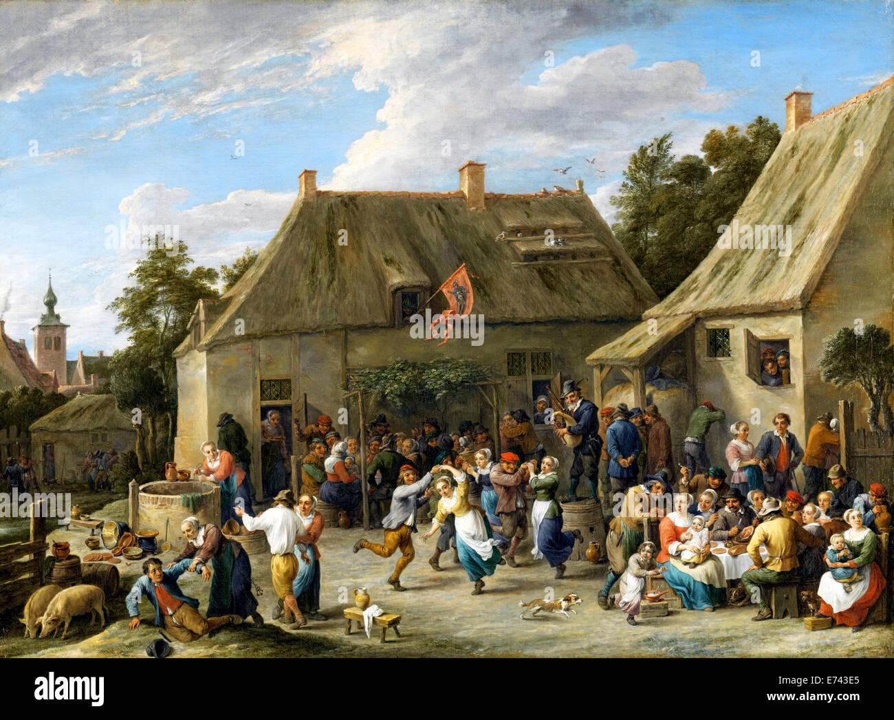 Peasant Kermis - by David Teniers, 1665 - Stock Image