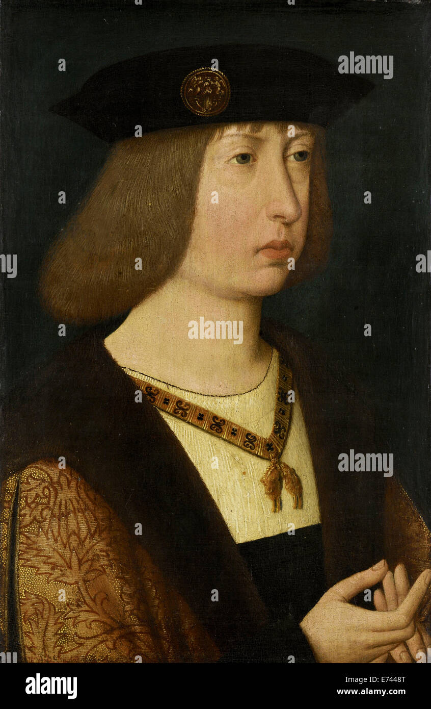 Portrait of Philip the Fair, Duke of Burgundy - by unknown artist, 1500 - Stock Image