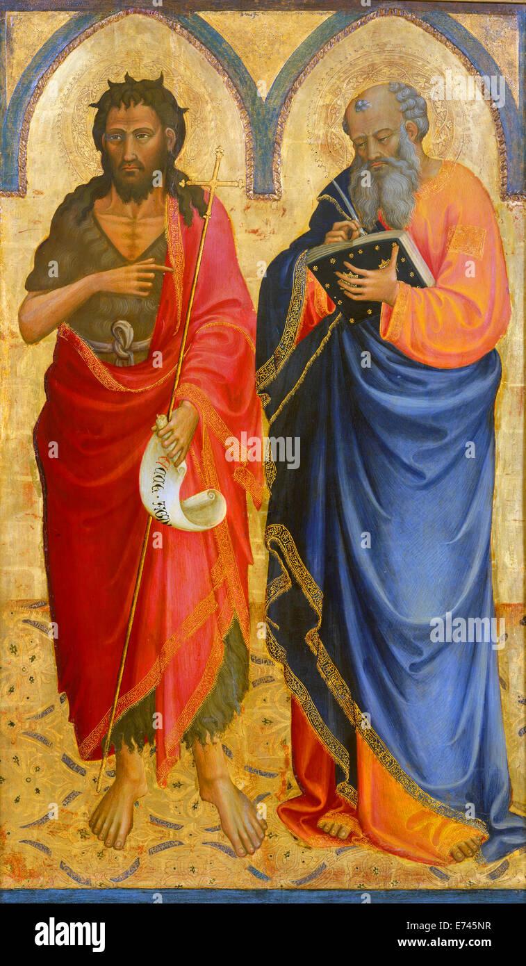 Saints John the Baptist and Matthew - by Bicci di Lorenzo, 1433 - Stock Image
