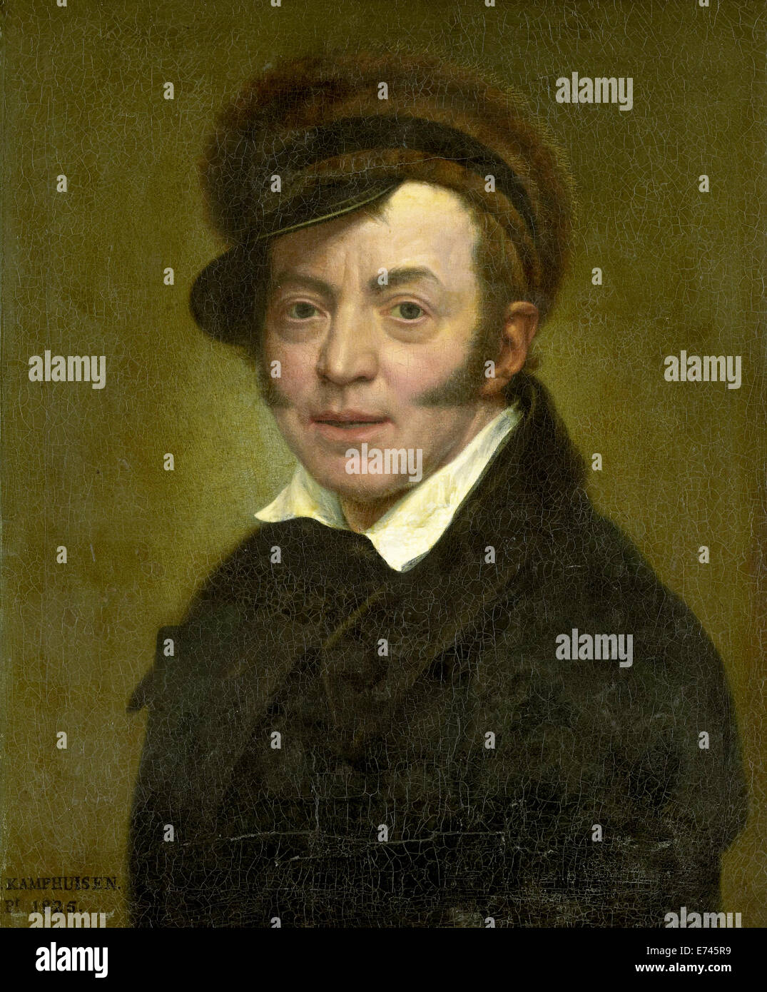 Self Portrait - by Jan Kamphuysen, 1825 - Stock Image