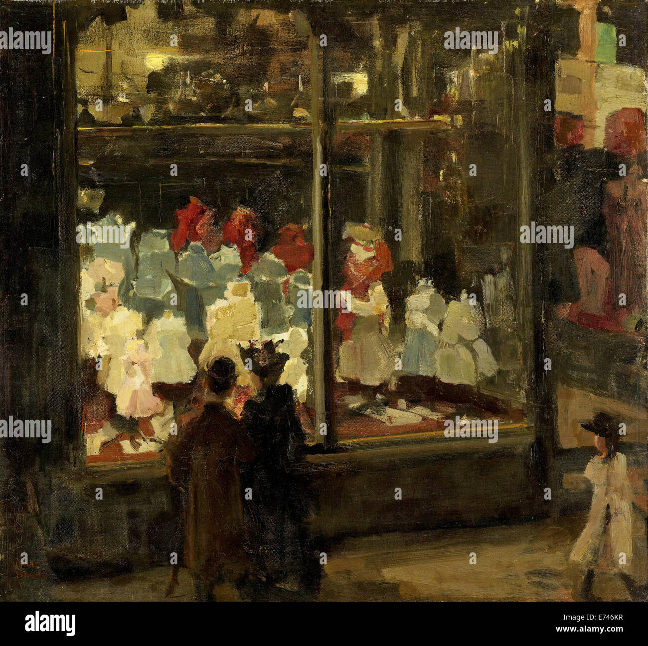 Shop Window - by Isaac Israels, 1894 Stock Photo
