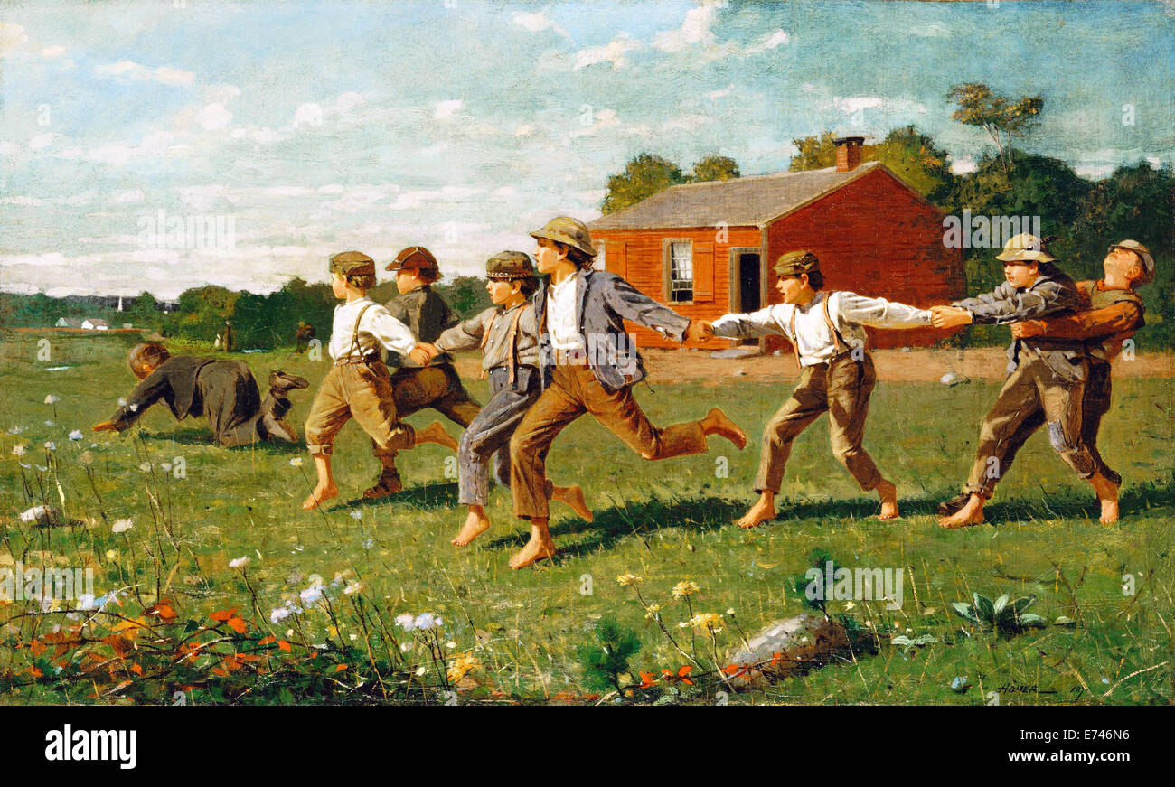 Snap the Whip - by Winslow Homer, 1872 - Stock Image