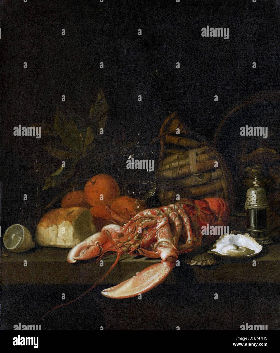 Still Life - by David Davidsz de Heem, 1668 - Stock Image