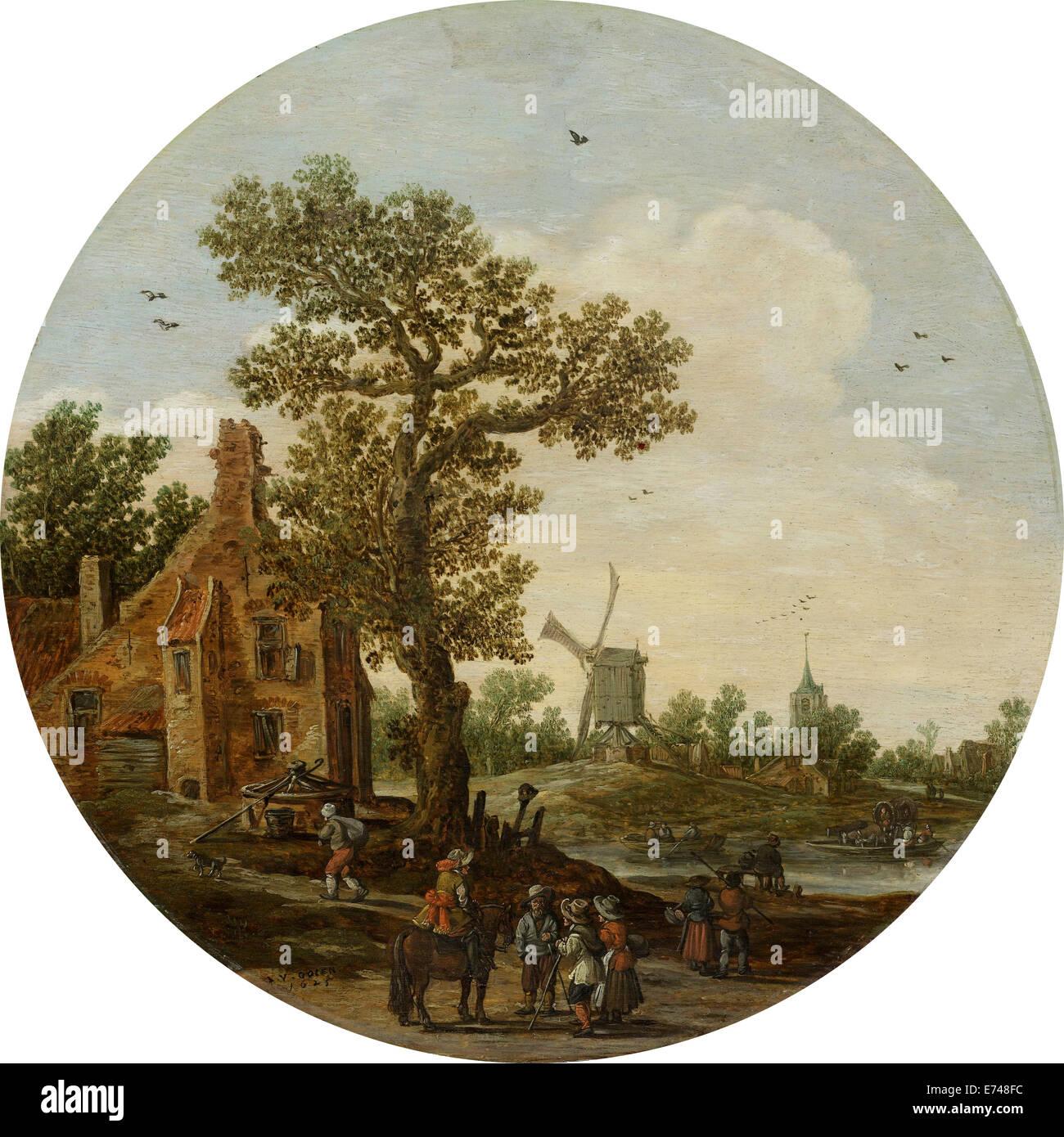 Summer - by Jan van Goyen, 1625 - Stock Image