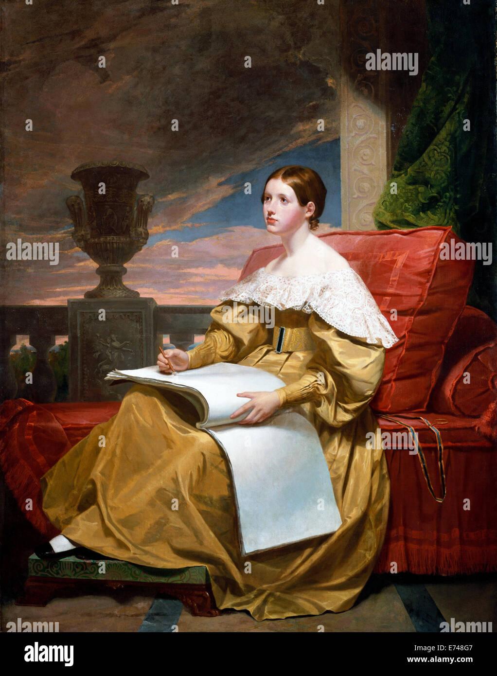 Susan Walker Morse, The Muse - by Samuel F. B. Morse, 1836 - Stock Image
