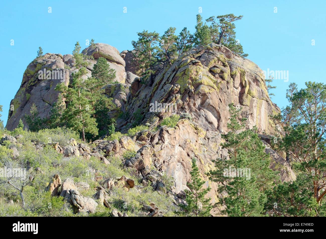 Merkit tract, Buryatia, Siberia, Russian Federation - Stock Image