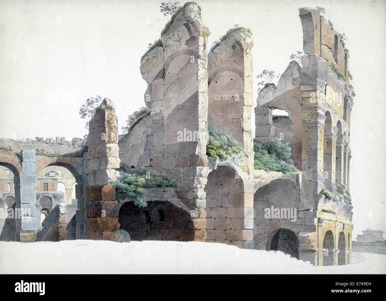 The Colosseum in Rome - by Josephus Augustus Knip, 1809 Stock Photo