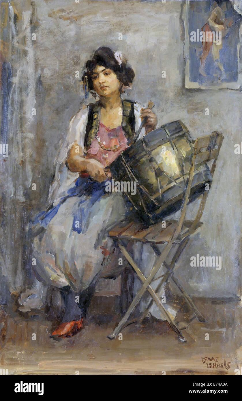 The drummer star - by Isaac Israels, 1890 - 1910 - Stock Image