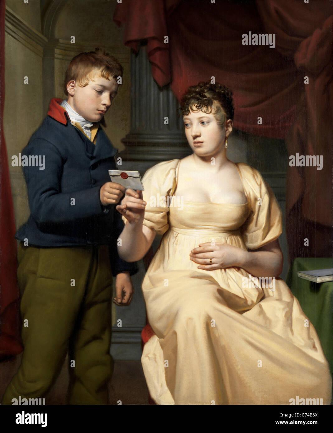 The Love Letter - by Willem Bartel van der Kooi, 1808 - Stock Image