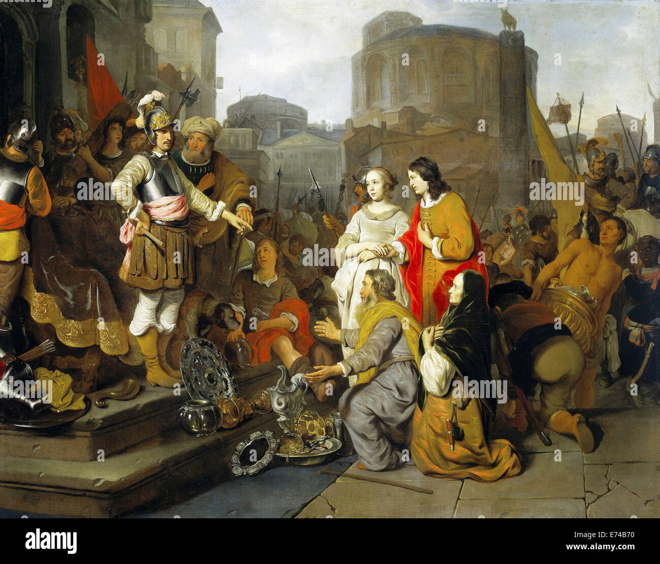 The magnanimity of Scipio - by Gerbrand van den Eeckhout, 1650 - 1655 Stock Photo