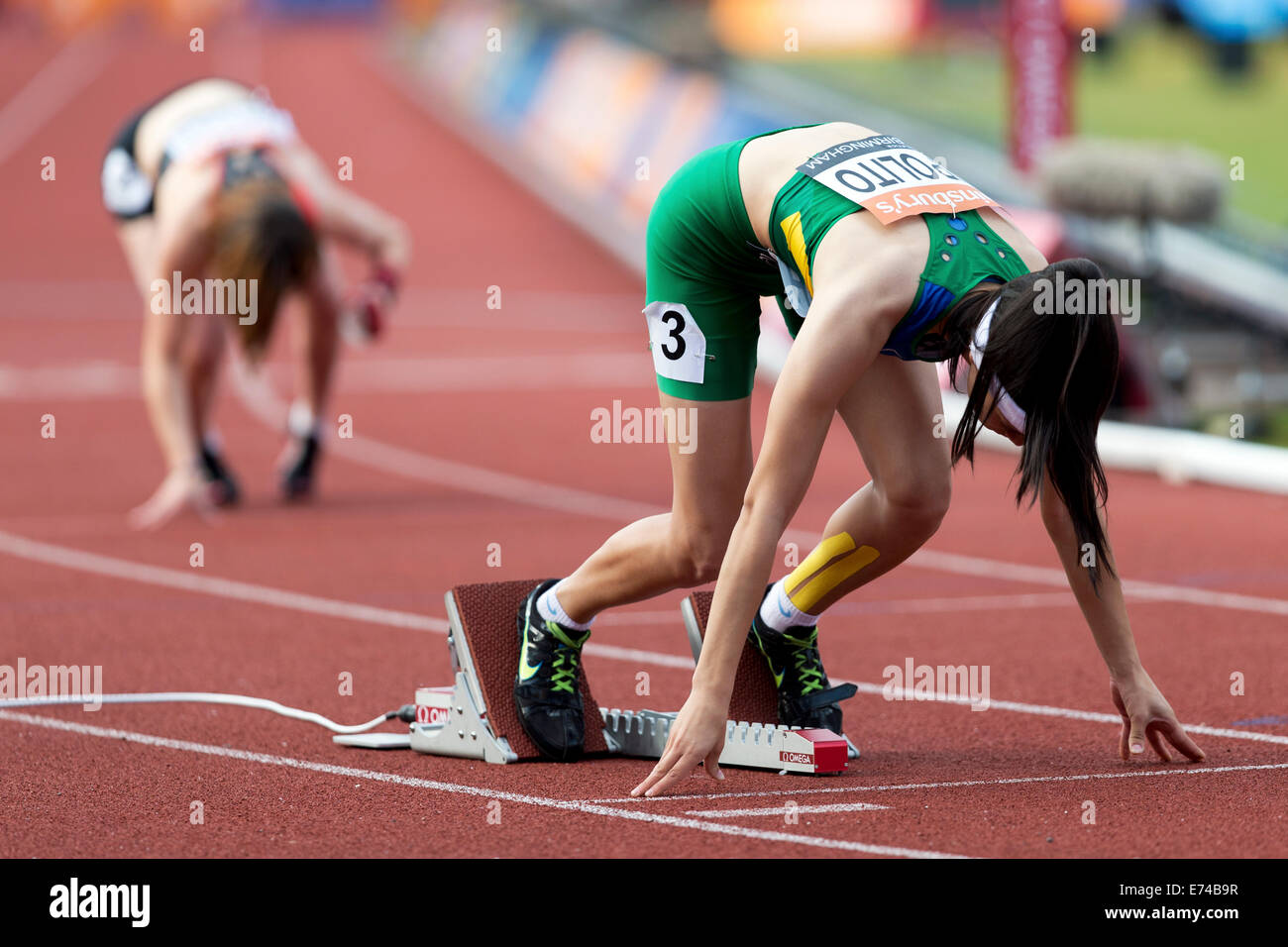 Veronica HIPOLITO, Women's 400m T37-38, 2014 IPC Sainsbury's Birmingham Grand Prix, Alexander Stadium, UK - Stock Image