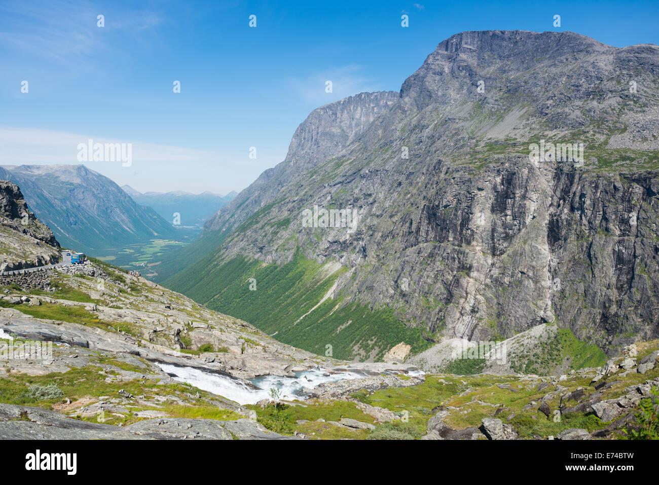 Trollstigen near Andalsnes, Norway, Scandinavia, Europe. - Stock Image
