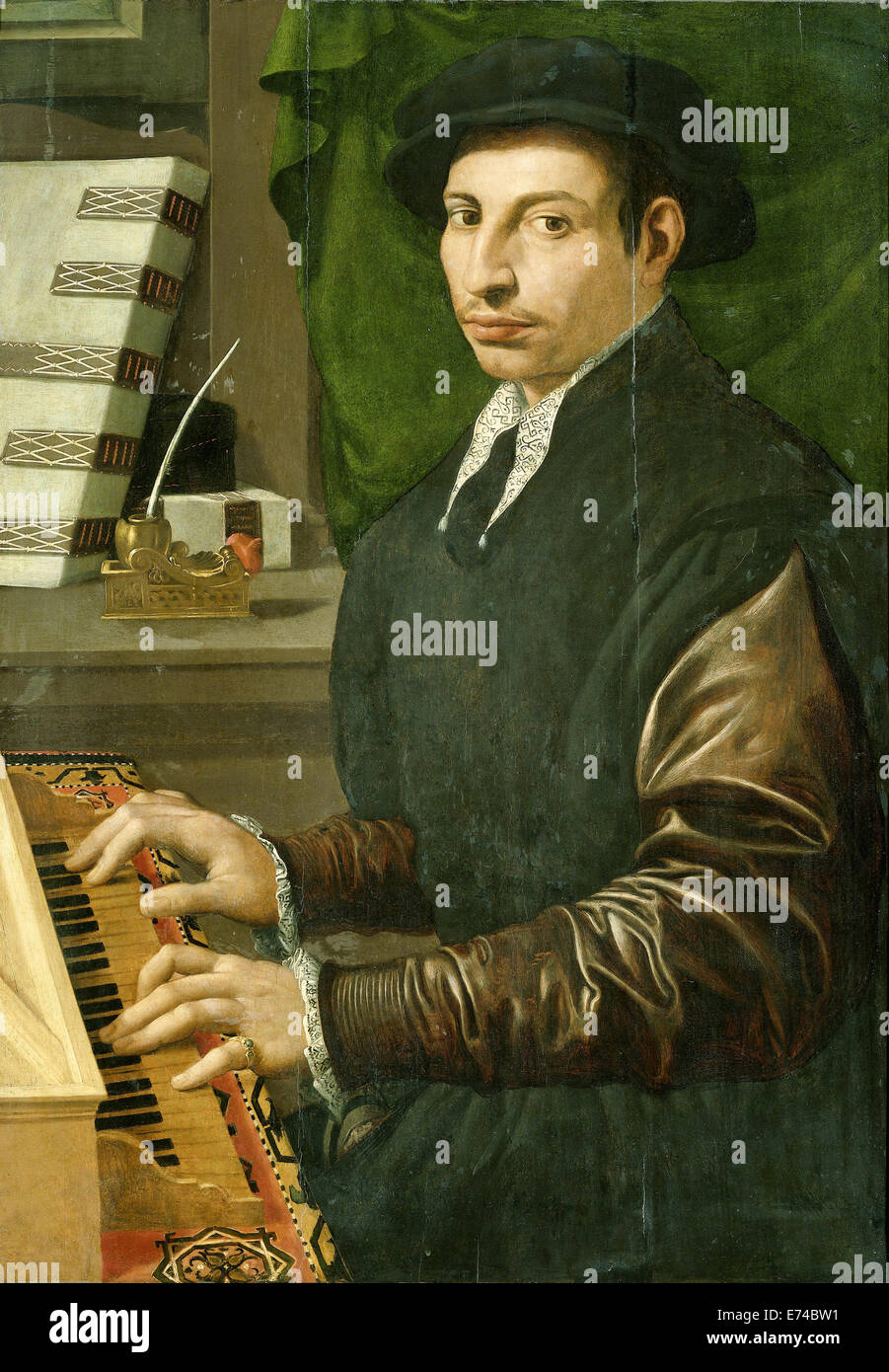 The Shamrock Chord Player - by Francesco Traballesi, 1554 - 1570 - Stock Image