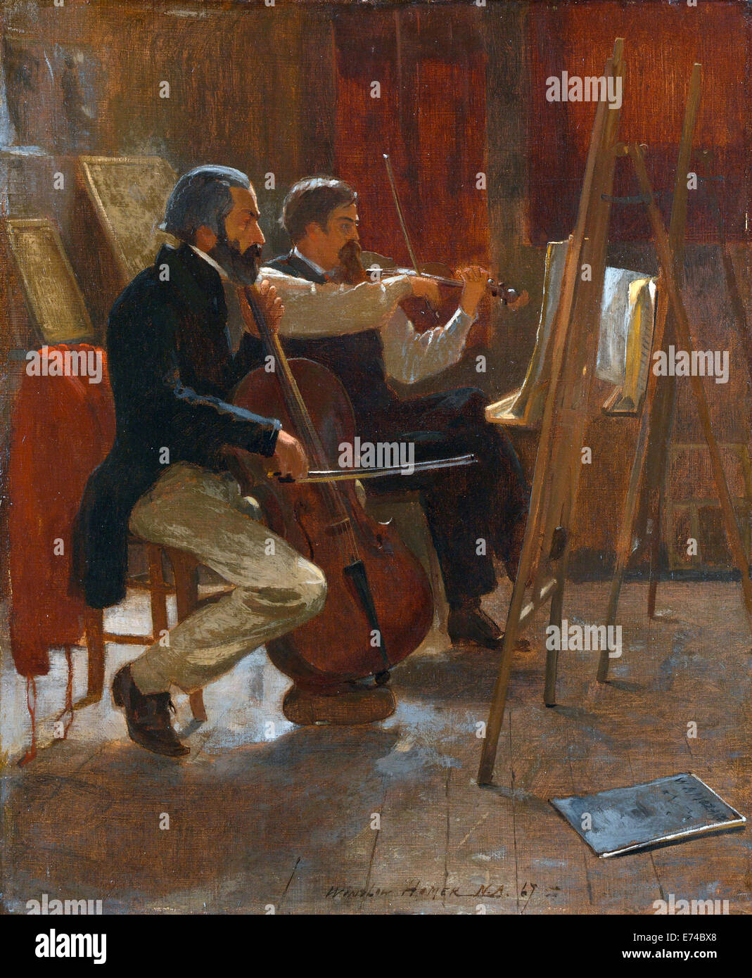 The Studio - by Winslow Homer, 1867 - Stock Image