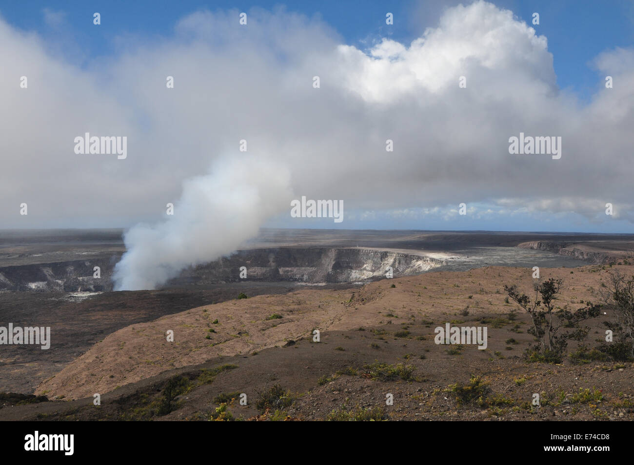 One of Kilauea's vents at work. - Stock Image
