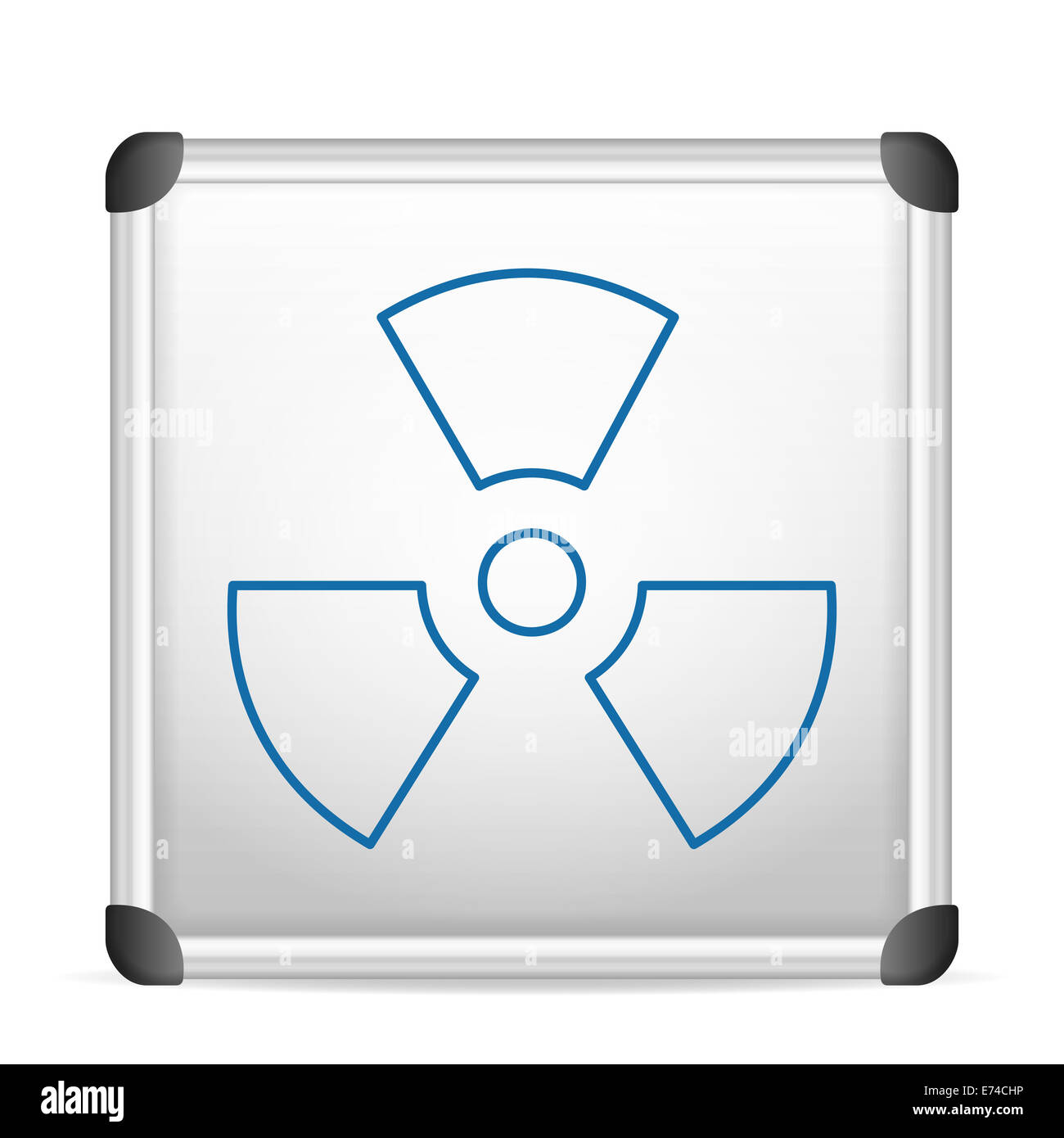 whiteboard radiation on a white background. - Stock Image