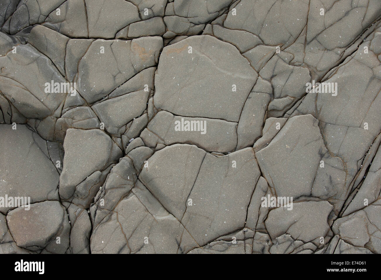 basalt wall close up as background - Stock Image
