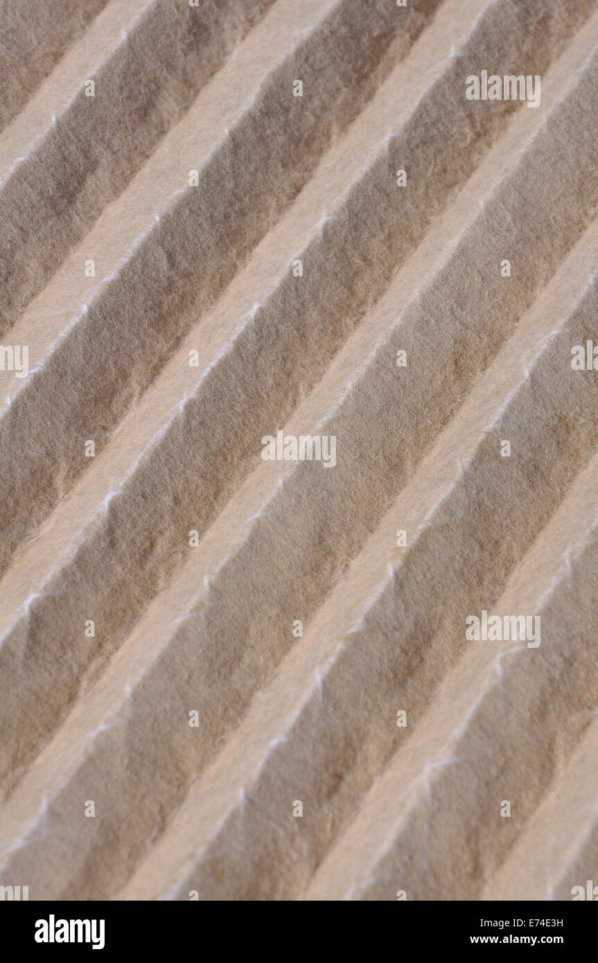 Dirty home air conditioner filter - Stock Image