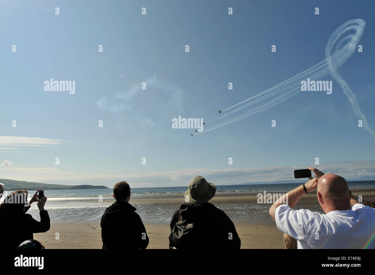 Ayr, Scotland, UK. 6th September 2014. Aircraft take part in a display in the skies above Ayr for the first time Stock Photo