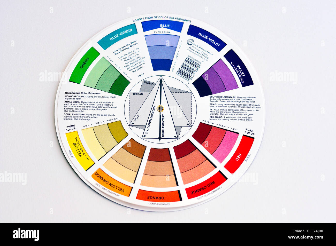 Color Wheel For Artists Stock Photo 73246292 Alamy