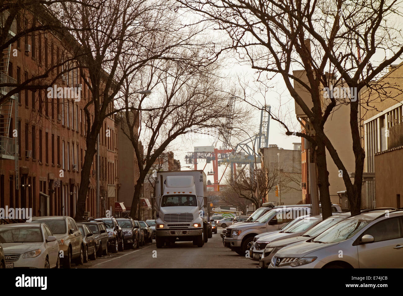 street in Carroll gardens neighborhood Brooklyn NY Stock Photo ...