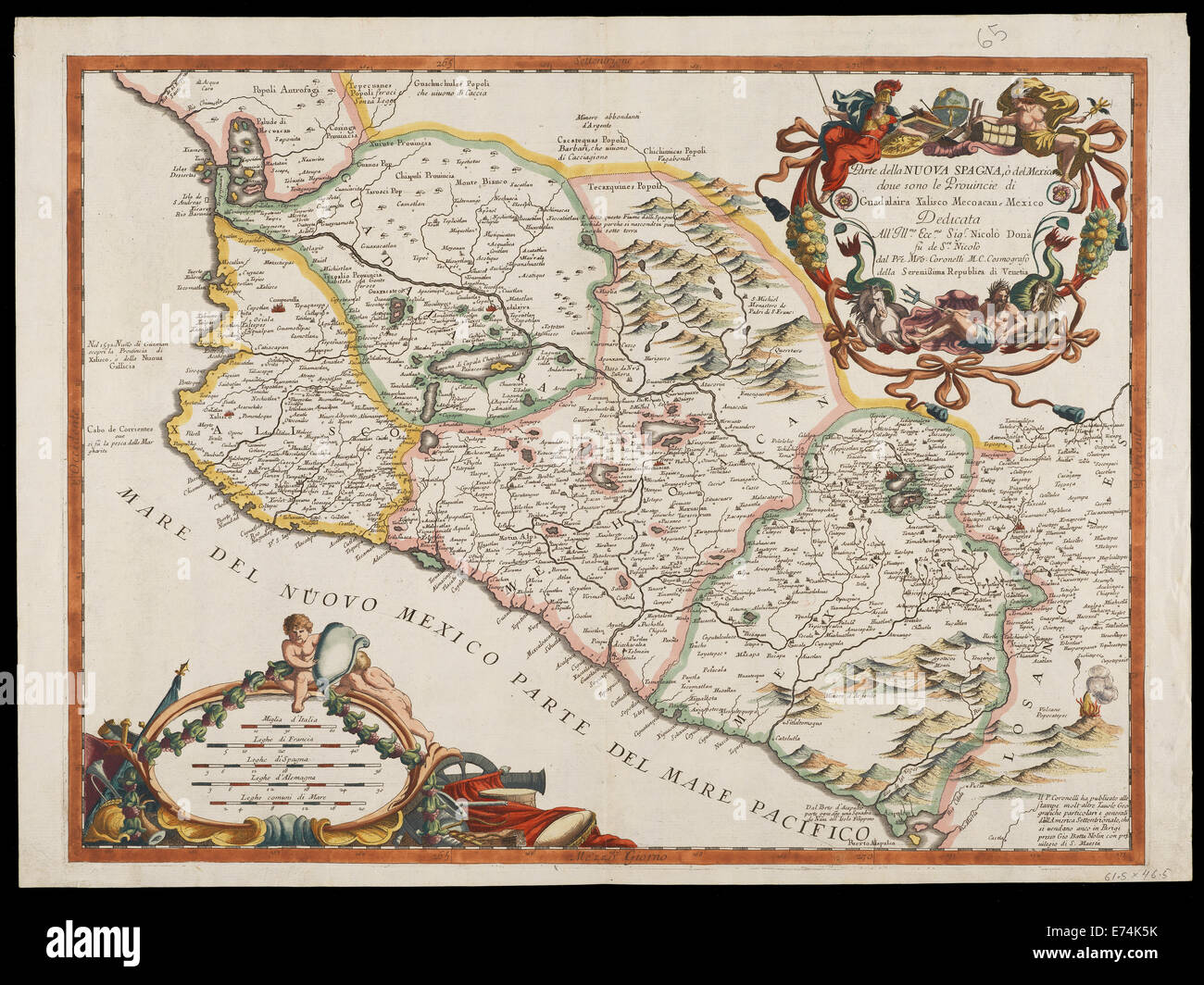 Gutierrez collection of maps and images of the Americas - Stock Image