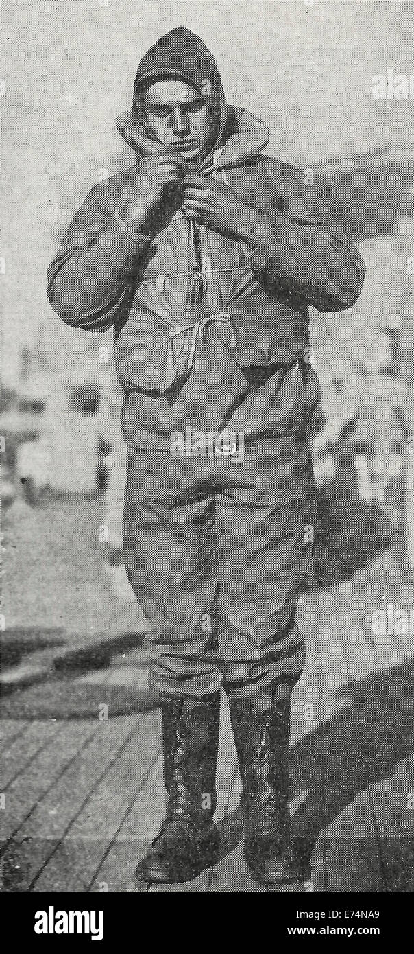 Cold Proof Uniform - USA Navy WWI, 1917 - Stock Image