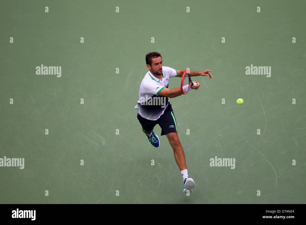 New York, US. 6th Sep, 2014. Marin Cilic (CRO) defeated Roger Federer (SUI in the Men's Semi-Final. Credit: - Stock Image