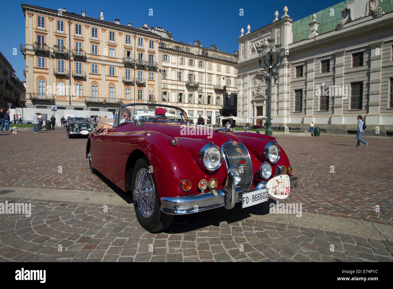 Collectable Jaguar Stock Photos Images 1958 Wiring Diagram Torino Italy 6th September 2014a Xk 150 Dhc Arrives In