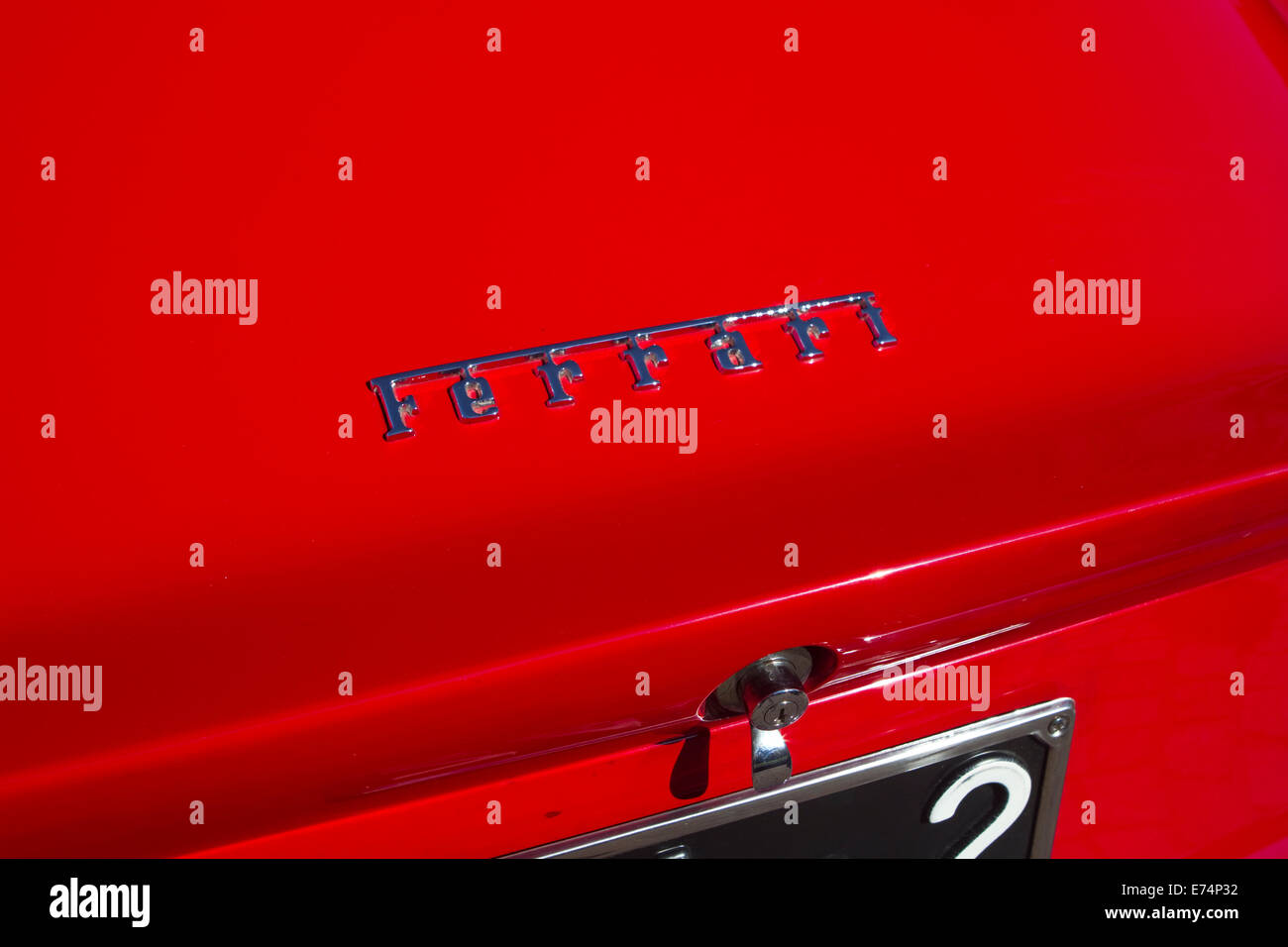 Torino, Italy. 6th September 2014. The Ferrari Logo on a 1965 275 GTB. Collectors of historical cars met in Torino - Stock Image