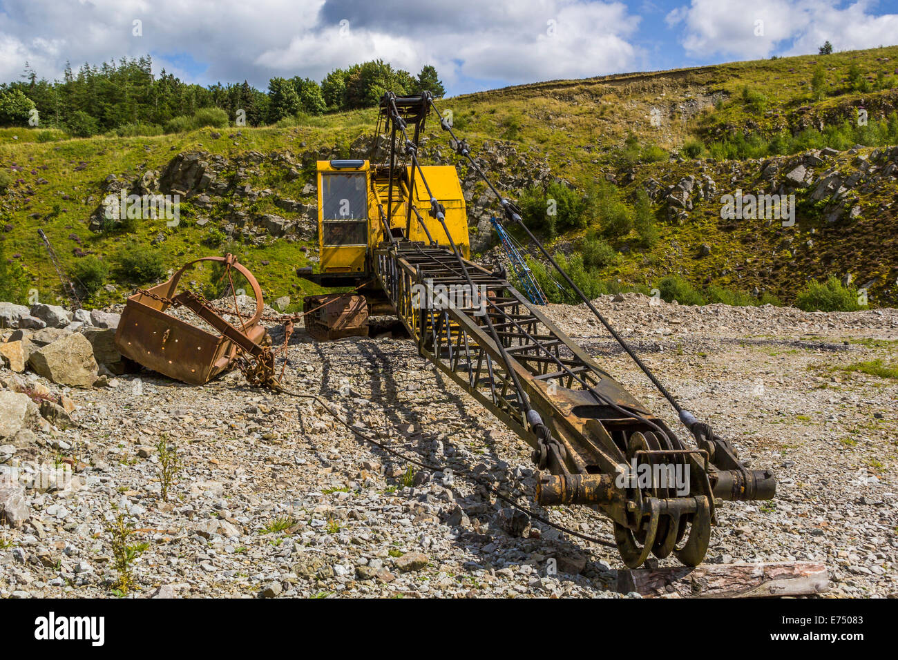 A Dragline excavator at a mining museum. Stock Photo