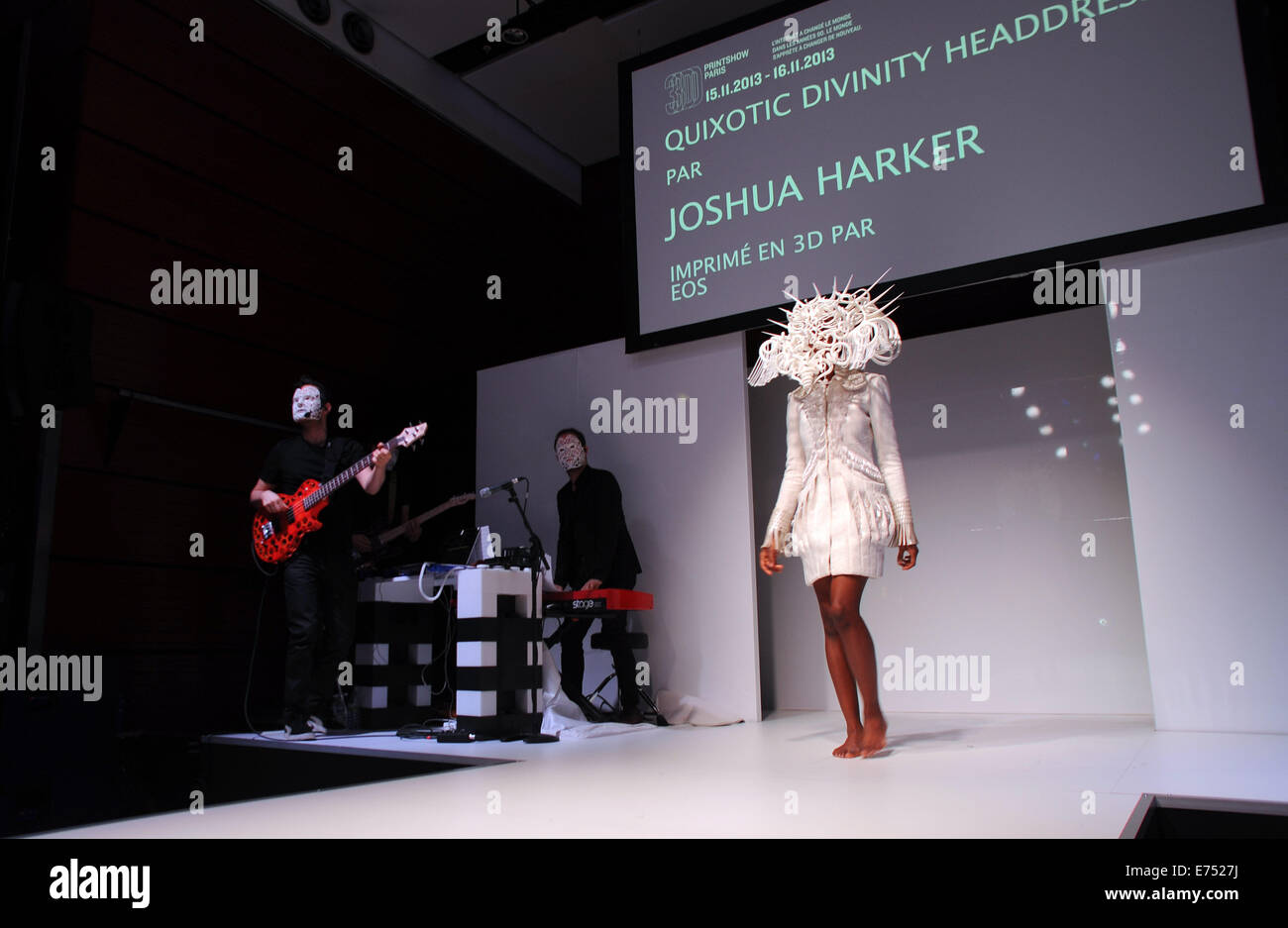 November 16, 2013 - Paris, France: Fashion catwalk show featuring accessories and shoes made with 3D printers during - Stock Image