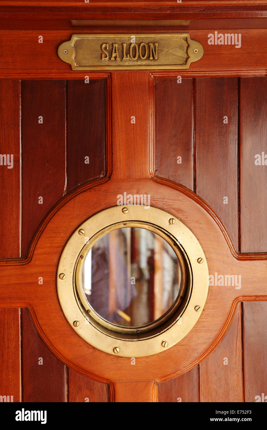 The saloon door on a cruise ship. - Stock Image & Saloon Door Stock Photos u0026 Saloon Door Stock Images - Alamy