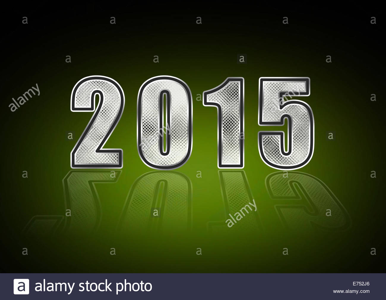 New Year's Eve - Sylvester 2015 - Stock Image