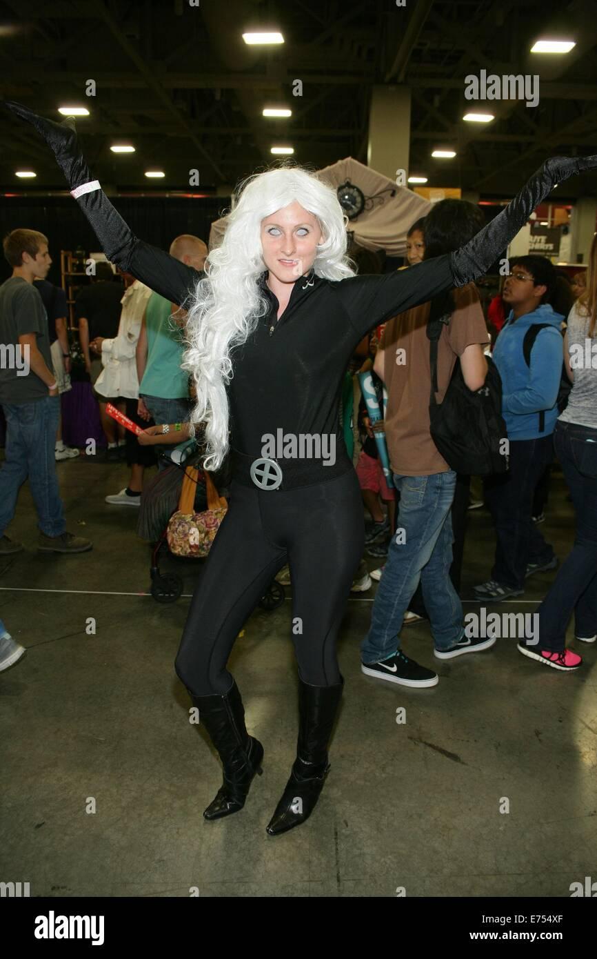 Salt Lake City CA. 6th Sep 2014. Fan dressed in Storm costume in attendance for Salt Lake COMICON 2014 - SAT Salt Palace Convention Center ...  sc 1 st  Alamy & Salt Lake City CA. 6th Sep 2014. Fan dressed in Storm costume in ...