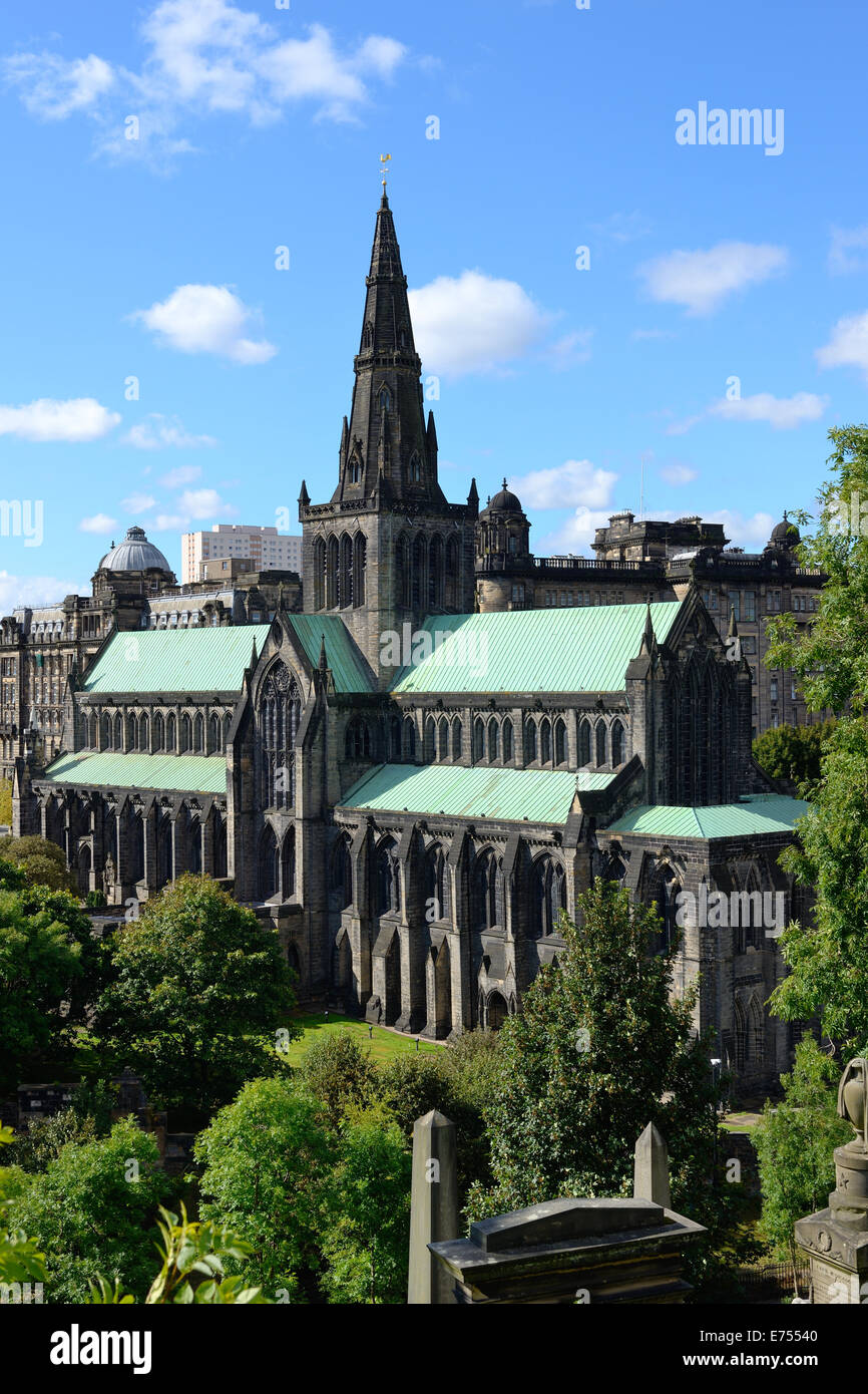 Glasgow Cathedral, Scotland - Stock Image