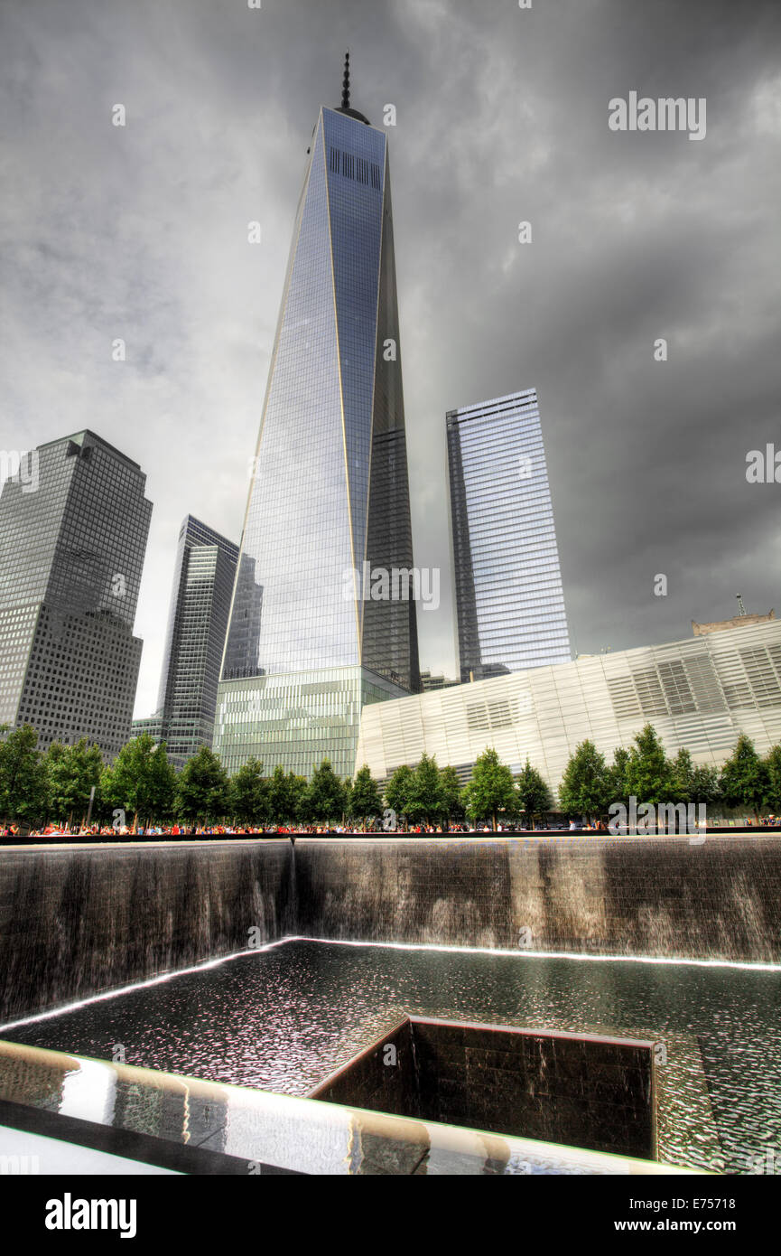 The New World Trade Center and 911 Memorial in New York - Stock Image