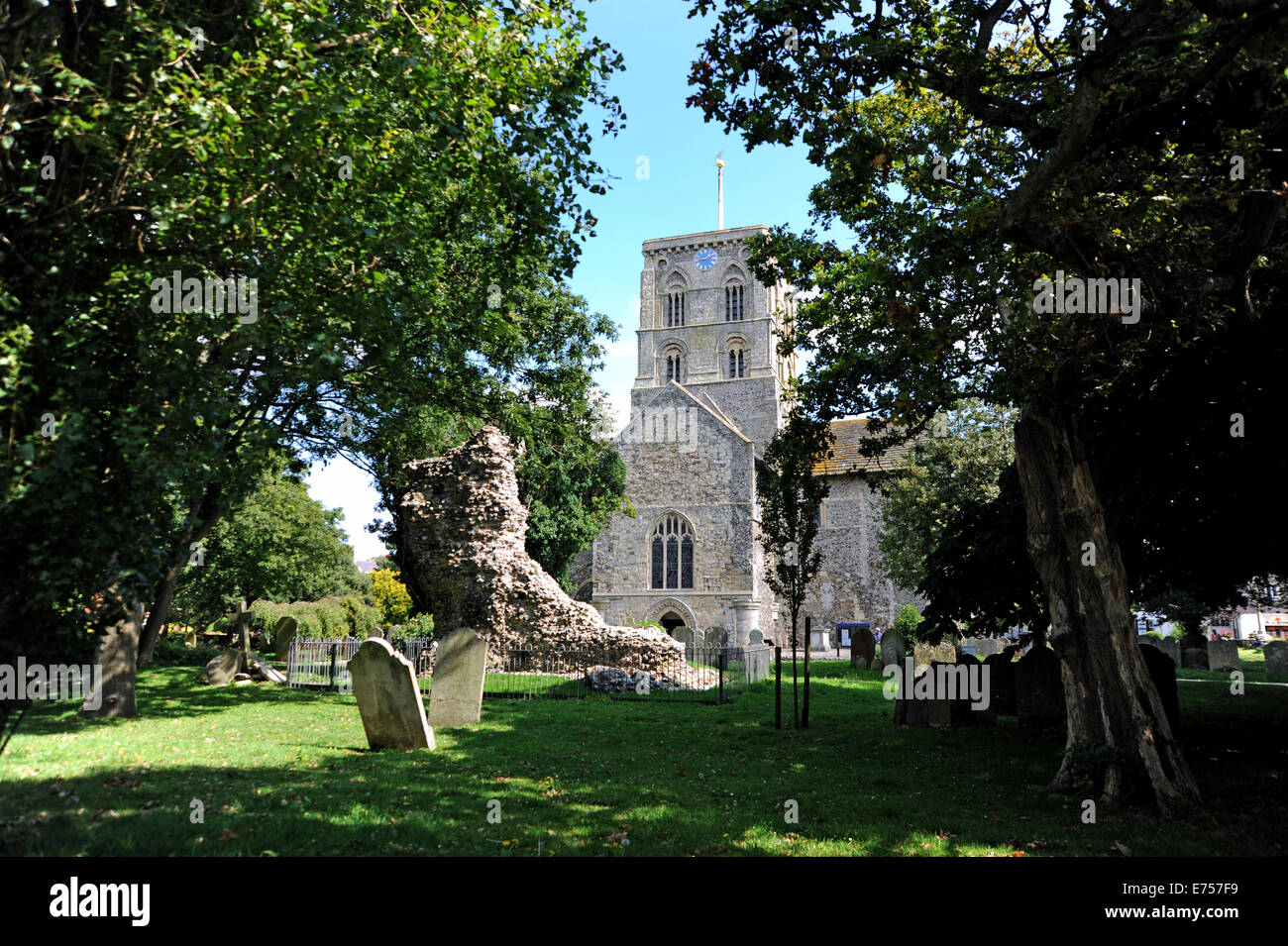 Shoreham  Sussex UK Church of St Mary de Haura in Shoreham dates back 900 years to the year 11000 AD - Stock Image