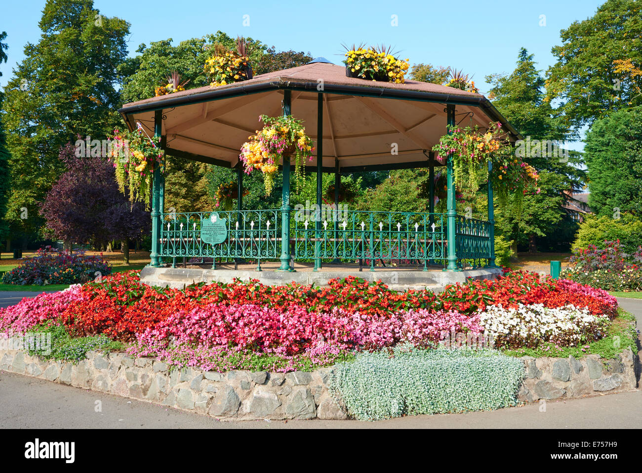 Bandstand Presented By William Wooton For The Coronation Of King Edward In 1902 Queen's Park Loughborough Leicestershire - Stock Image
