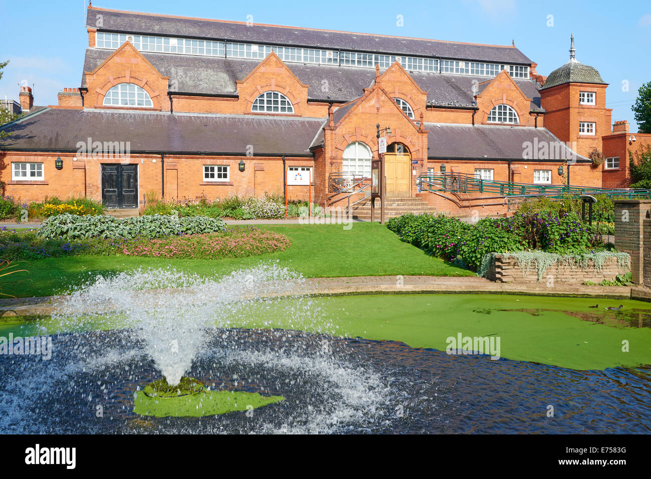 The Charnwood Museum Within Queen's Park Loughborough Leicestershire UK - Stock Image