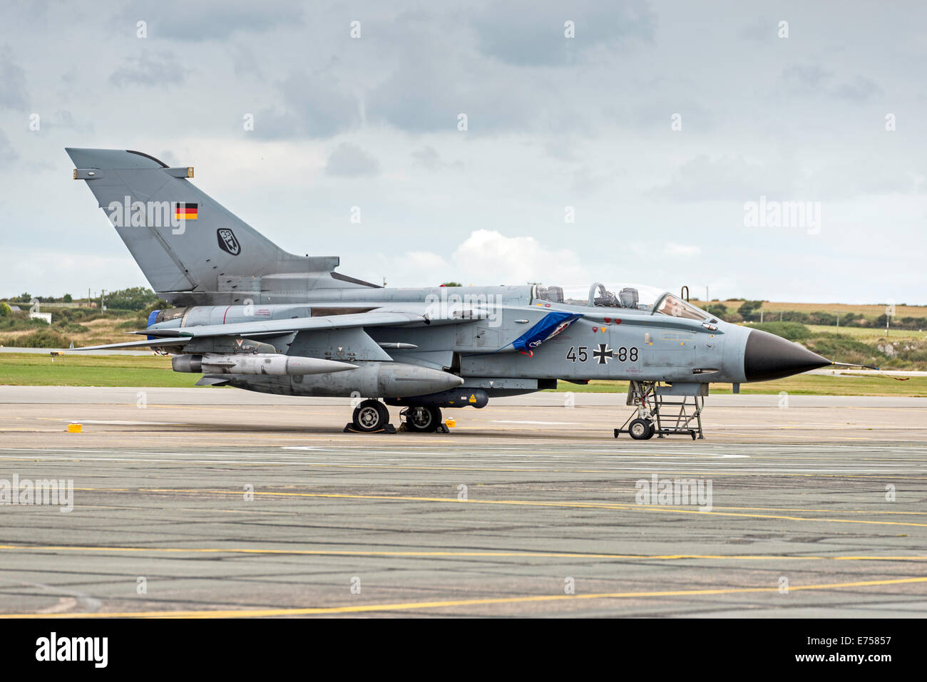 RAF Valley Anglesey North Wales Uk  45+88 - Panavia Tornado IDS - Taktisches LuftwaffeGerman Air Force - Stock Image