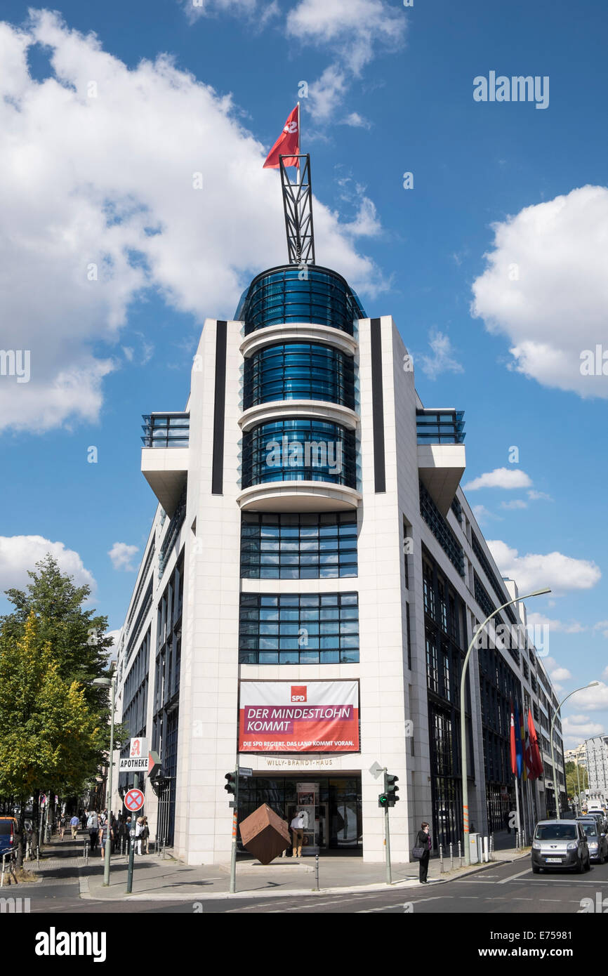 Willy Brandt building the Berlin SPD Federal Head Office Germany - Stock Image