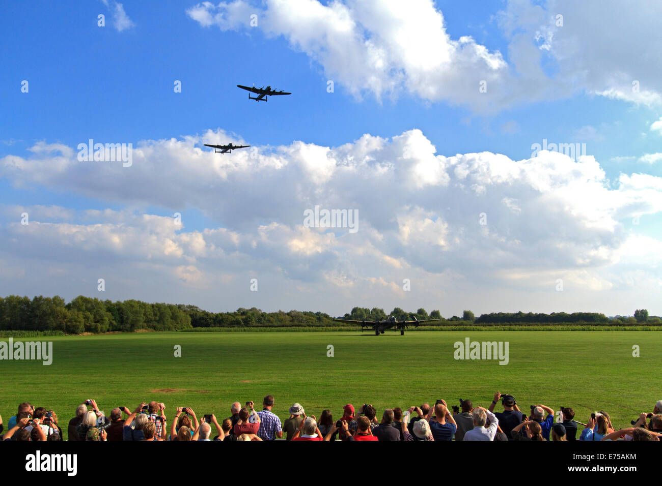 Lincolnshire, UK. 7th Sep, 2014. saw a spectacular public event and unique moment in aviation history at the Lincolnshire - Stock Image