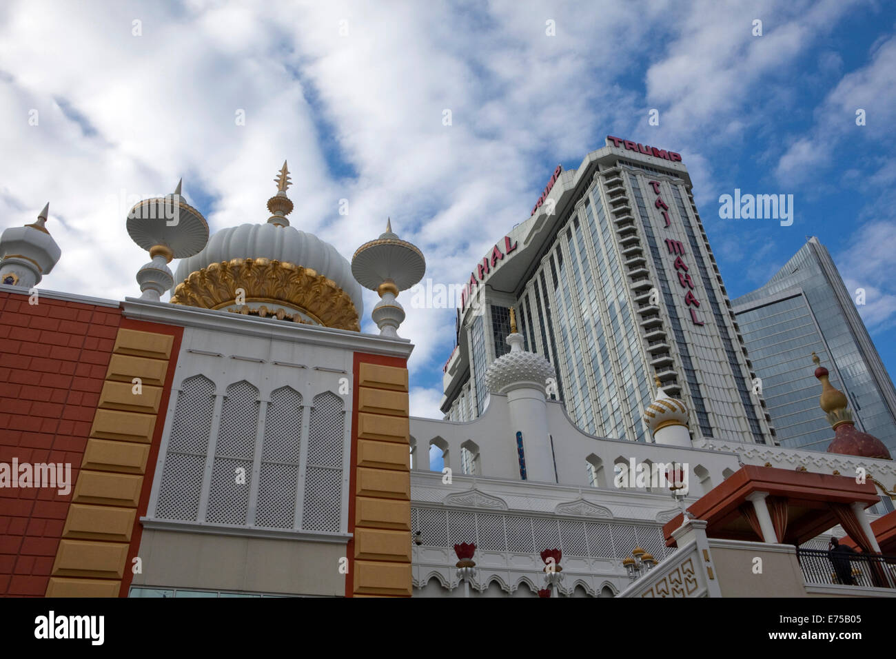 A view of the Trump Taj Mahal casino and hotel in Atlantic City, New Jersey - Stock Image
