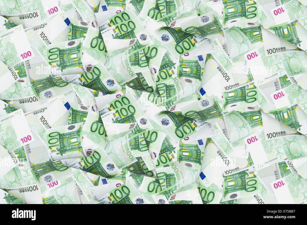 Full of euro money banknotes as texture Stock Photo