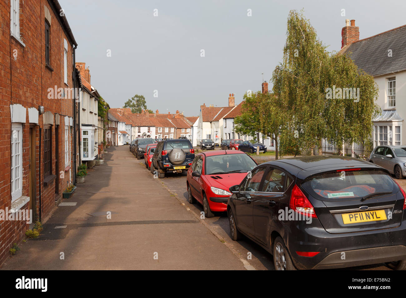 The village of Nether Stowey. - Stock Image