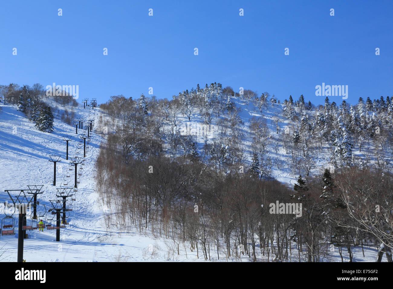 japan ski powder stock photos & japan ski powder stock images - alamy