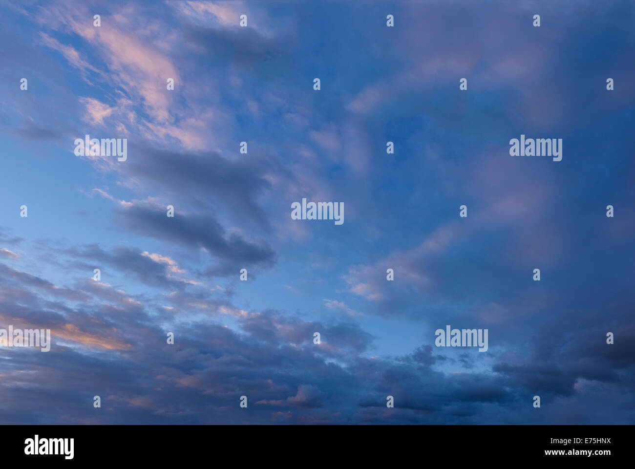 Clouds in a dusk sky Stock Photo
